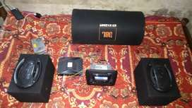 JBL basstube 1250 JBL amp 2 speaker pineoor swift car stereo