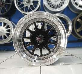 Jual Velg Mobil Avanza, Yaris dll Type IKIMASU Black Machine Face R16