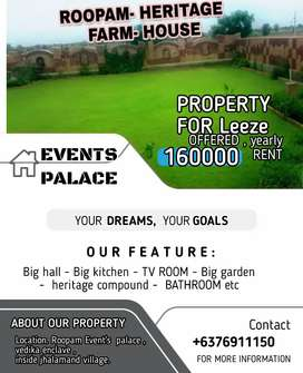 My event's garden at jhalamand village for rent