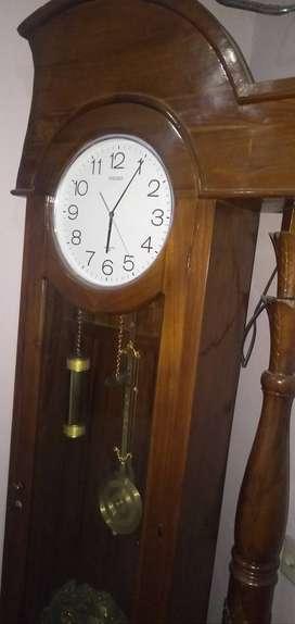 Jam hias kayu jati jepara asli