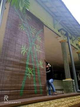 Kerei bambu/tirai bambu wulung
