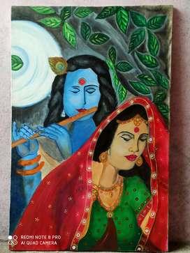 Radha Krishna painting on Canvas