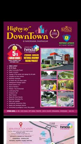 Residential open plots for sale at Shadnagar Nandigama