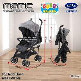 Stroller Pliko Matic BS 530 - Kereta Dorong Bayi Pliko Murah Jogja