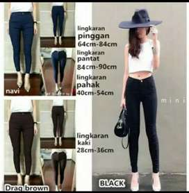 Streetch Jegging/Basic jegging hitam & navy