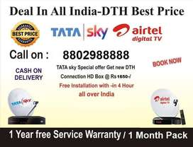 Buy New DTH Connection Tata Sky, Airtel DTH & Dish Tv