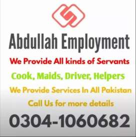 Maid baby sitter Cook driver Etc