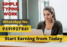 Part-time / Full time / Home based work. Earn monthly Rs.30,000/-
