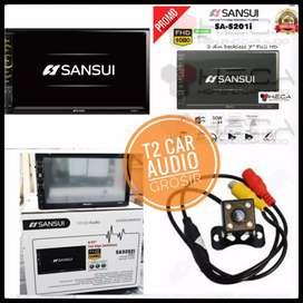 Promo surabaya 2din SANSUI JAPAN android link 7inc+camera hd asiik