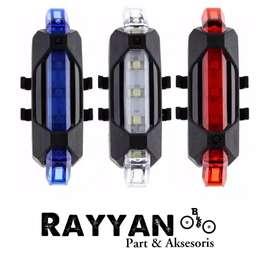 Lampu Belakang Sepeda 5 LED