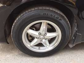 "15"" Alloy Rims and Dunlop tyre for sale"