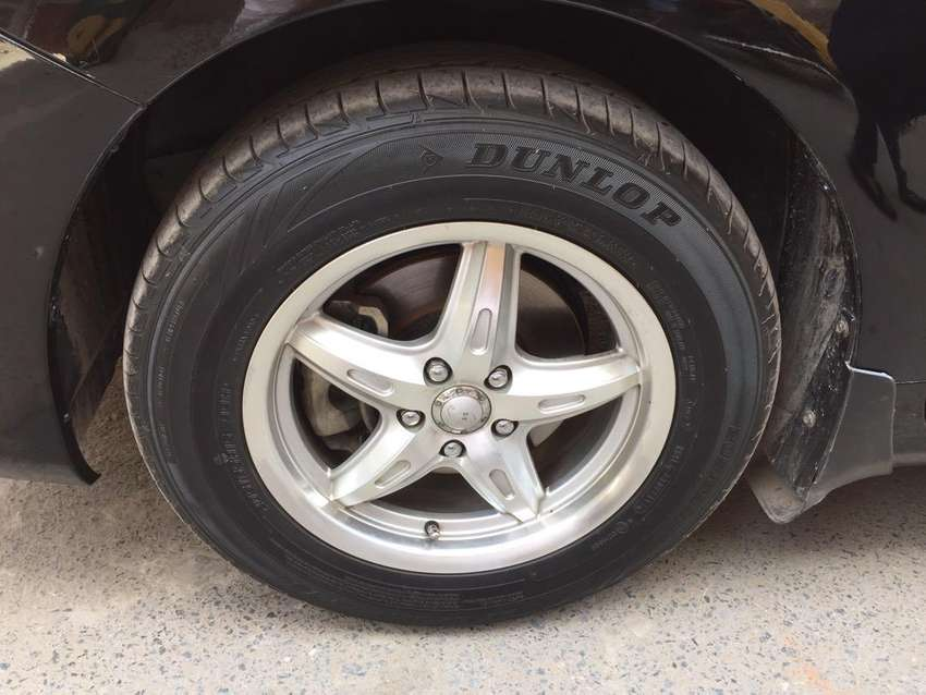"""15"""" Alloy Rims and Dunlop tyre for sale 0"""