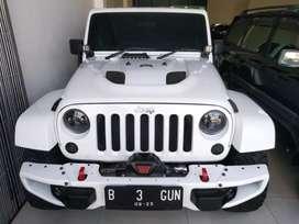 Jeep Wrangler Jk Sahara Pentastar 3600 Cc Matic Tahun 2012 Putih B No