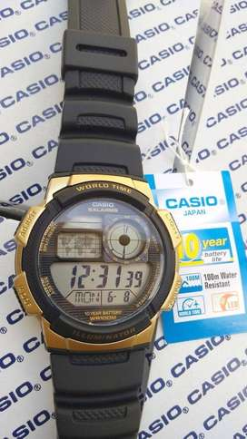 Jam Tangan Casio Original AE-1000W Black Gold