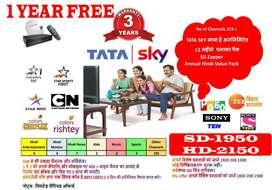 Tata Sky   TataSky   DISH   1 YEAR FREE   Airtel   D2H   Installation