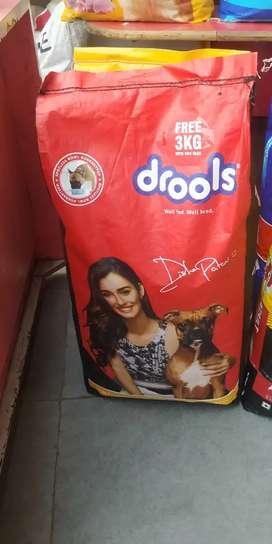 Dog food and dry food