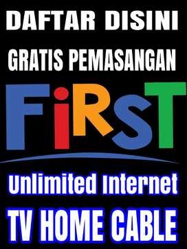 FIRST MEDIA PROMO DISC 30%  WIFI INTERNET UNLIMITED GRATIS PASANG