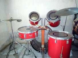 Nanda (Kolkata) Red & Black color Drum kit