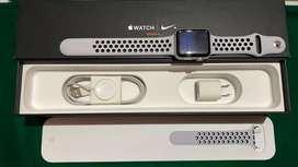 apple watch series 3 nike plus 42mm GPS + cell, warna silver aluminium