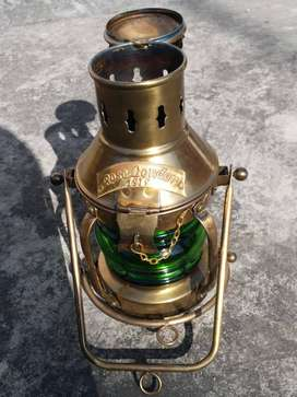 Antique Lamp Brass Rose London Navy 1915