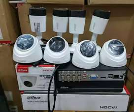 Paket lengkap 8 kamera cctv Dahua 2Mp Gratis pasang terima beres.
