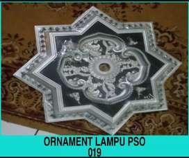 Ornament lampu cantik, ornament PVC