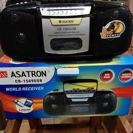 Radio tape usb asatron 1568 radio tape pita jadul speaker compo ac&dc