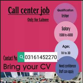 Jobs are available for call centre