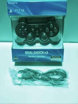 Stick Stik Sony PS3 Wireless OP Hitam & Kabel Usb