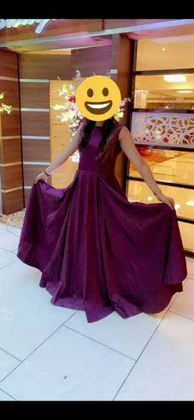 Dark wine colour full evening gown for special occasion. Size L