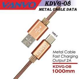 Kabel Data Vanvo Metal KDVG-08 Colokan Tipe C