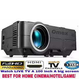 1500LM 1080P HD PROJECTOR BEST FOR HOME/HOTEL/CLASS/EVENT/CAFE/GYM