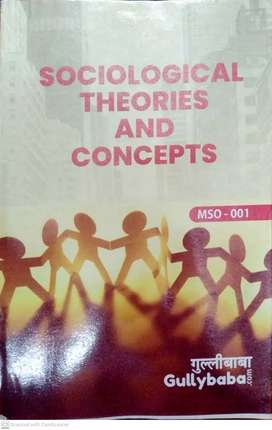 MSO-001 IGNOU SOCIOLOGY THEORIES AND CONCEPT GULLY BABA