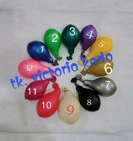 Balon karet polos ulang tahun