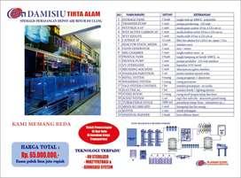 Perakitan dan pemasangan depot air minum isi ulang dari Damisiu