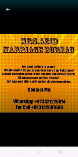 Mrs Abid Marriage Bureau
