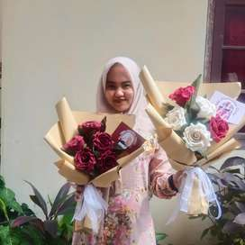 Buket mawar flanel