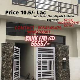 2BHK (50gaj) Independent House Available In Lalru,Punjab & MC Approved