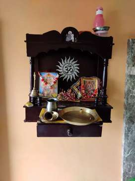 Mandir, wooden, 2 year old,