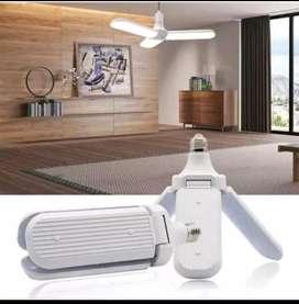 Lampu Kipas 45 Watt LED Gantung Model Kipas Angin Terang