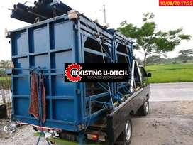 Cetakan box culvert panel uditch kanstin pres batako d9