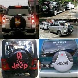 Cover/Sarung Ban Serep Toyota Rush/Terios/Panther wayang Hallo... mobi