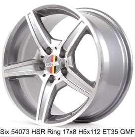 velg mobil Mercy type->SIX HSR Ring 17X8 H5X112 ET35 GMF