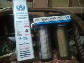 Safe pak water filter with uv