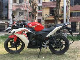 CBR 150R ( white and red combination )