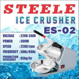 Mesin Alat Serut Es Listrik STEELE ES-02 Ice Crusher Smashing Machine