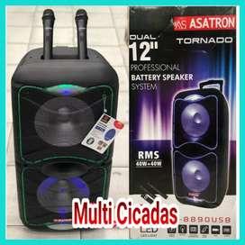 """speaker (12""""x2)Asatron+equalizer, mantap"""