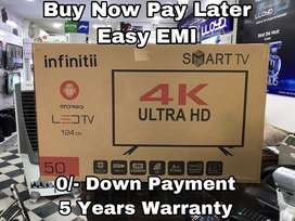 """Infinitii 50"""" UHD 4K Smart Android Led Tv - 5 Years Warranty"""