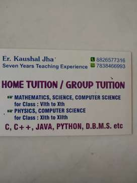 Home Tuition/Group Tuition