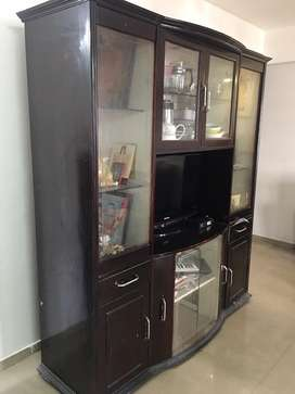 Wooden Display Unit with LED space in single piece size 6'x 7'(height)